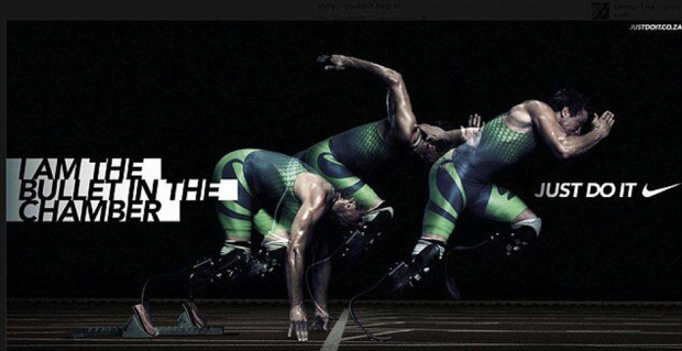 Nikes reklamekampanje: I am the bullet. Just do it.