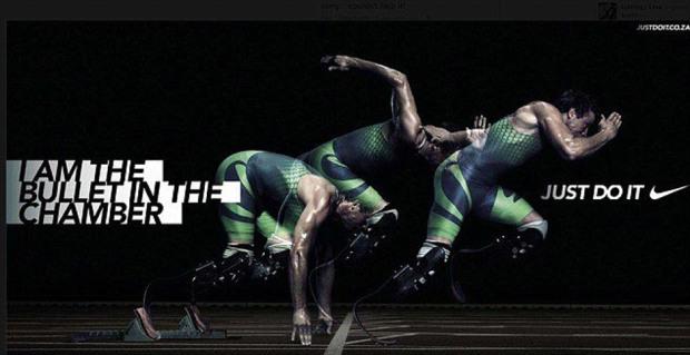Nikes reklamekampanje: I am the bullet. Just do it.