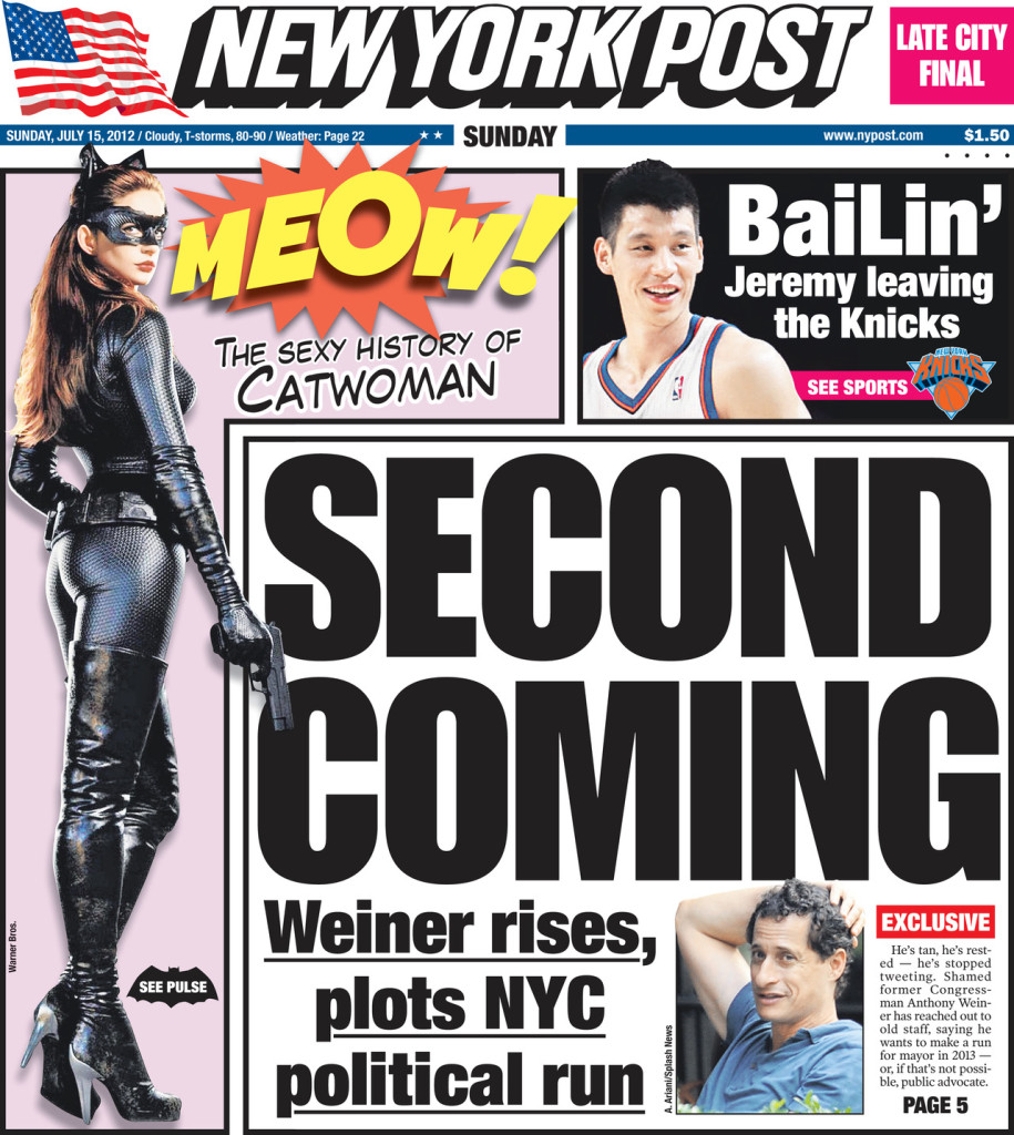 New York Post 15. juli 2012.