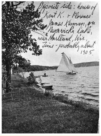 Lake Nagawicka. From George F. Kennan: An American Life. Image from Joan Kennan Collection