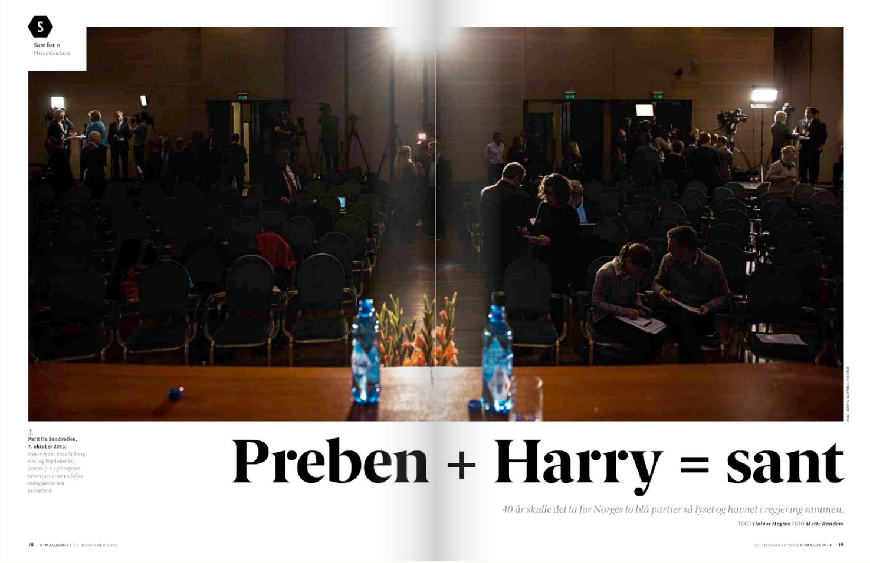 A-magasinet 27. desember 2013, side 18-19. Foto: Martin Slottemo Lyngstad