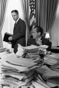 President Nixon with advisor H.R. Haldeman