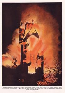 Molde kirke i brann  1949